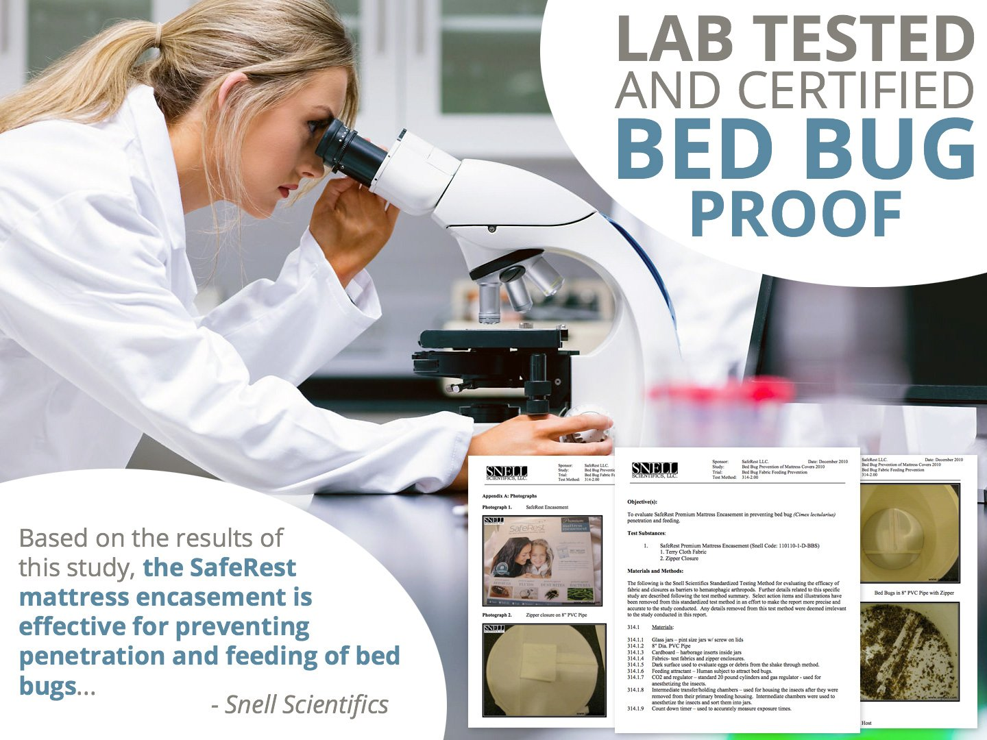 SafeRest Premium Hypoallergenic Waterproof Certified Bed Bug Proof Crib Mattress Encasement - Vinyl, PVC and Phthalate Free - (52'' x 28 x 6 in.)
