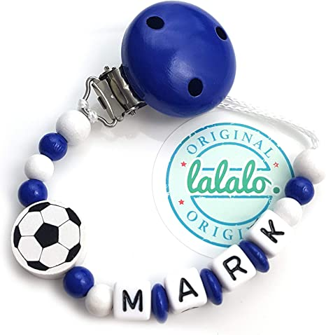 lalalo Cadena para chupete – Balón de fútbol con nombres, niño ...