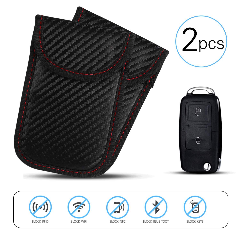 Car Key Signal Blocker Pouch, 2 Pack Keyless Car Key Signal Blocker | Anti-Theft Fob Protector Pouch | Faraday Bag Key Guard | Blocks RFID/WiFi / GSM/LTE | Universal Protection Ucradle