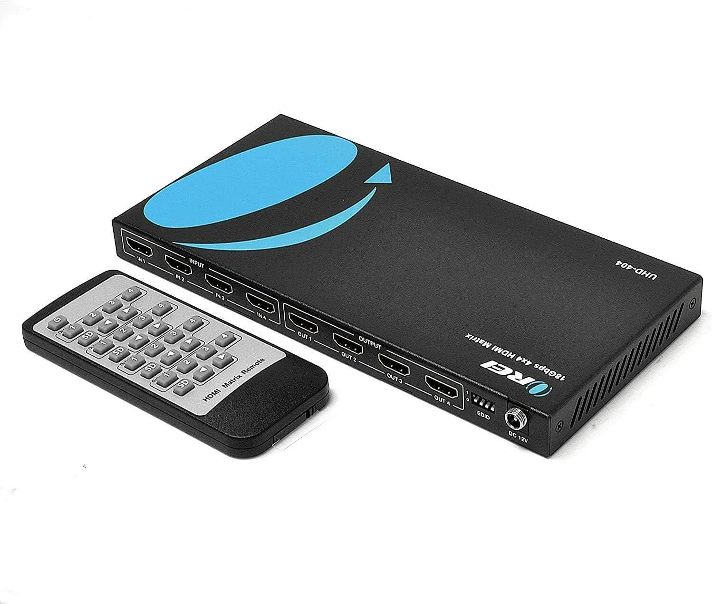 4x4 Hdmi 4k Matrix Switch Splitter Por Orei 4 Entradas 4 Output Con Control Remoto Soporta Ultrahd 4k 60hz 4 4 4 Hdr Yuv Hdmi 2 0 Hdcp 2 2 3d 1080p 18 Gbps Downscaler 4k Y 1080p Juntos Electronics Amazon Com