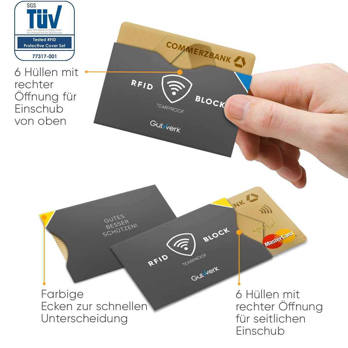 Tearproof rfid blocking nfc protective sleeves 122 piecescredit tearproof rfid blocking nfc protective sleeves 122 piecescredit card bank card id card passport 100 protection against unauthorised card reheart Image collections