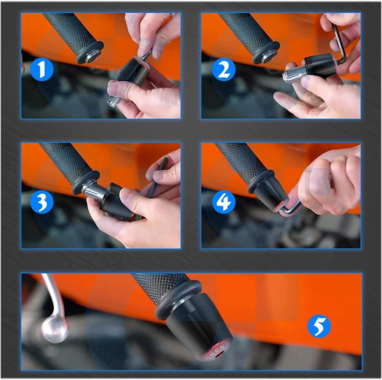 One Pair Of Motorcycle Handle Bar End Handlebar Grips Cap For Honda CBR 1000RR CBR1000RR CBR 1000 RR 2004-2020 2019 2007 2008 2009 Color : Color 2