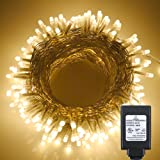 Fairy Pearl String Lights Warm White,ER CHEN(TM) 100ft 300 LED[5mm Bulb] Waterproof Ambiance Lighting With Power Adapter UL Certificate for Indoor,Outdoor,Patio,Lawn,Landscape,Wedding,Christmas,etc.