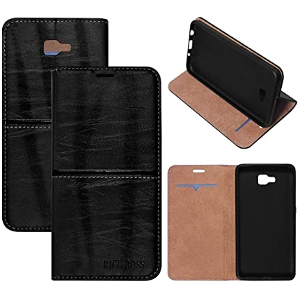 half off 2420f 5c012 MARVEL SHIELD,Rich Boss Premium Leather Kickstand Wallet Flip Case Cover  for Samsung Galaxy J7 Prime - Brown