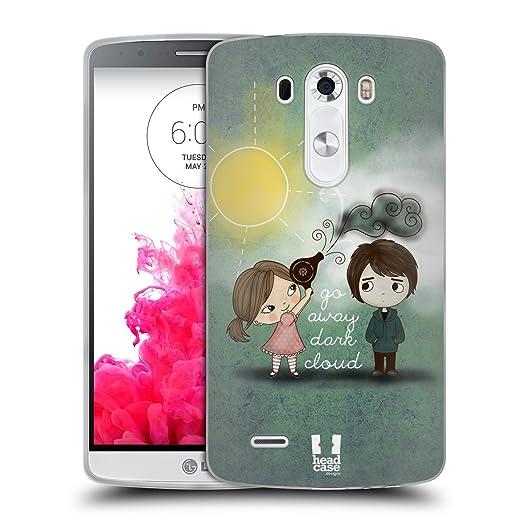 17 opinioni per Head Case Designs Dark Cloud Away Cute Emo Love Cover Morbida in Gel per LG G3