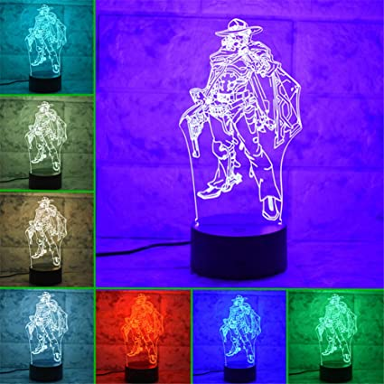 New Game Character 3d Led Home Abstract Art Decor Table Lamp