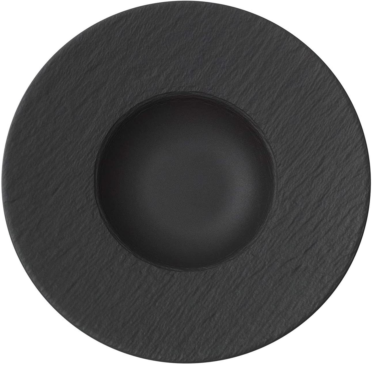 Villeroy & Boch Manufacture Rock Plato para pasta Porcelana Premium, Negro (Rock), 29 cm