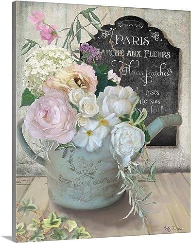 Marche Aux Fleurs III Canvas Wall Art Print