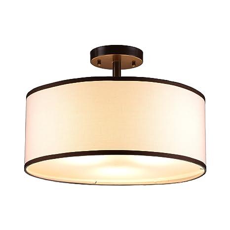 CO Z Bronze 3 Light Drum Chandelier, Semi Flush Mount Contemporary Ceiling  Lighting