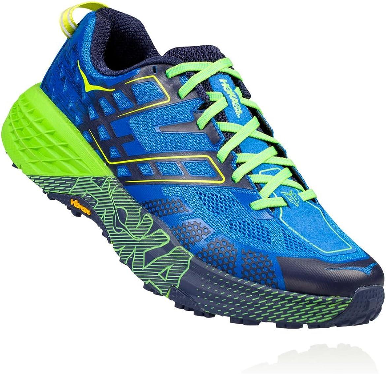 Hoka One One Speedgoat 2 - Zapatillas deportivas para correr (pista), color verde y azul: Amazon.es: Zapatos y complementos