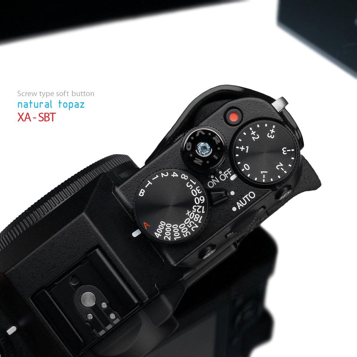 Garizジュエリーxa-sbtスクリュータイプソフトボタンリリースシャッターX - pro1 xpro1 x-e1 xe1 x100 x10 x100s x20 Leica Contax、ブルートパーズ B01BM4FG88