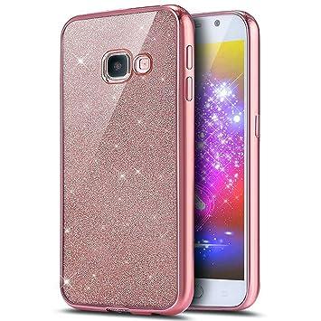 Ukayfe Funda Samsung Galaxy A5(2016), [Brillando 3D Crystal Centelleo] Bling del Brillo del Gel Suave Silicona Transparente TPU Carcasa con Cubierta ...