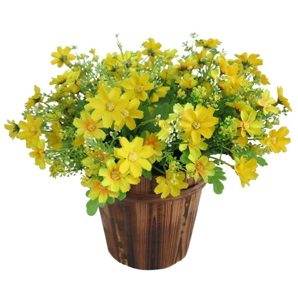 Display08 1 Bouquet 28 Heads Artificial Fake Daisy Flower Home