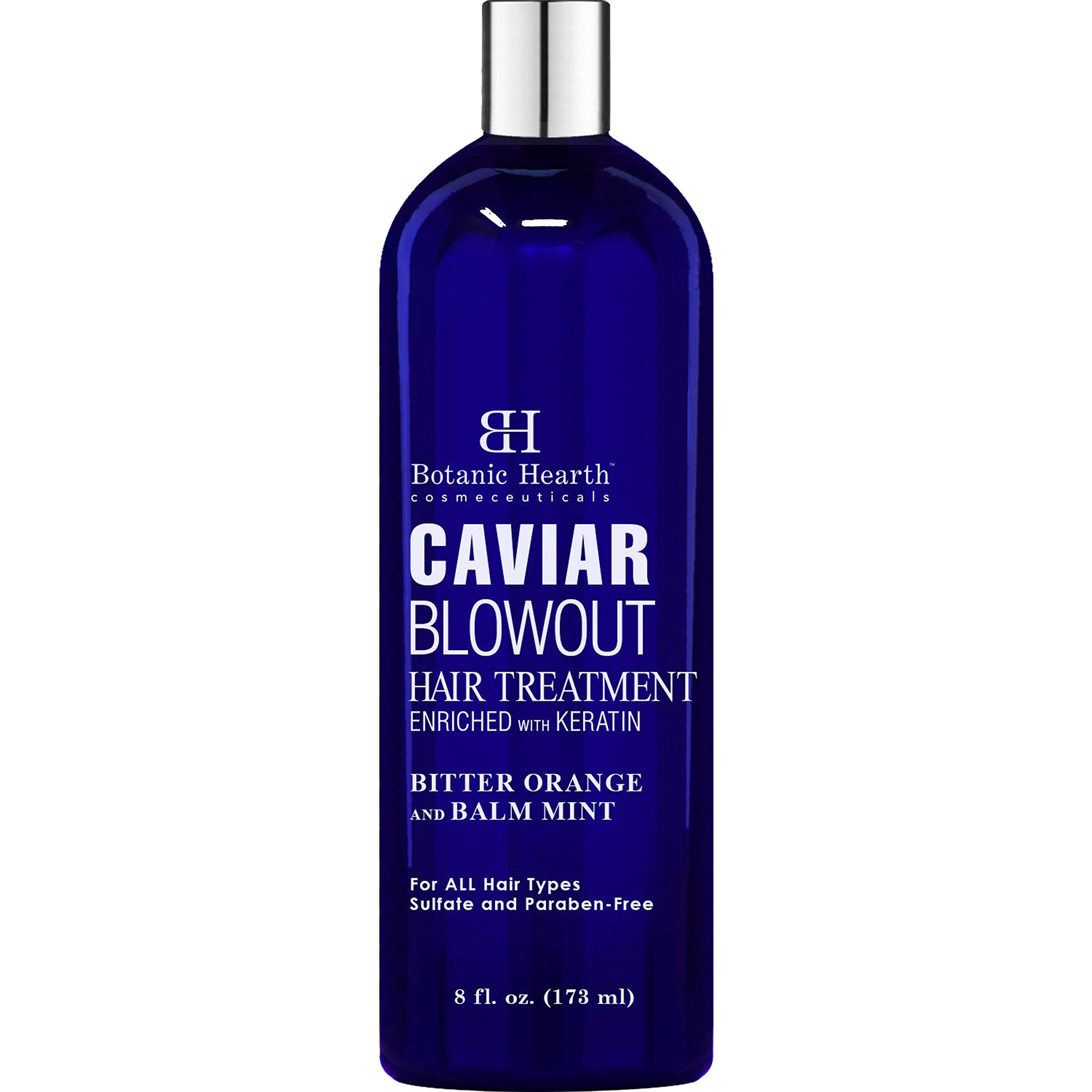 BOTANIC HEARTH Caviar Corrective Blowout Hair Treatment - Keratin Enriched Heat Activated Anti Frizz Smoothing Formula - 8 fl oz by Botanic Hearth