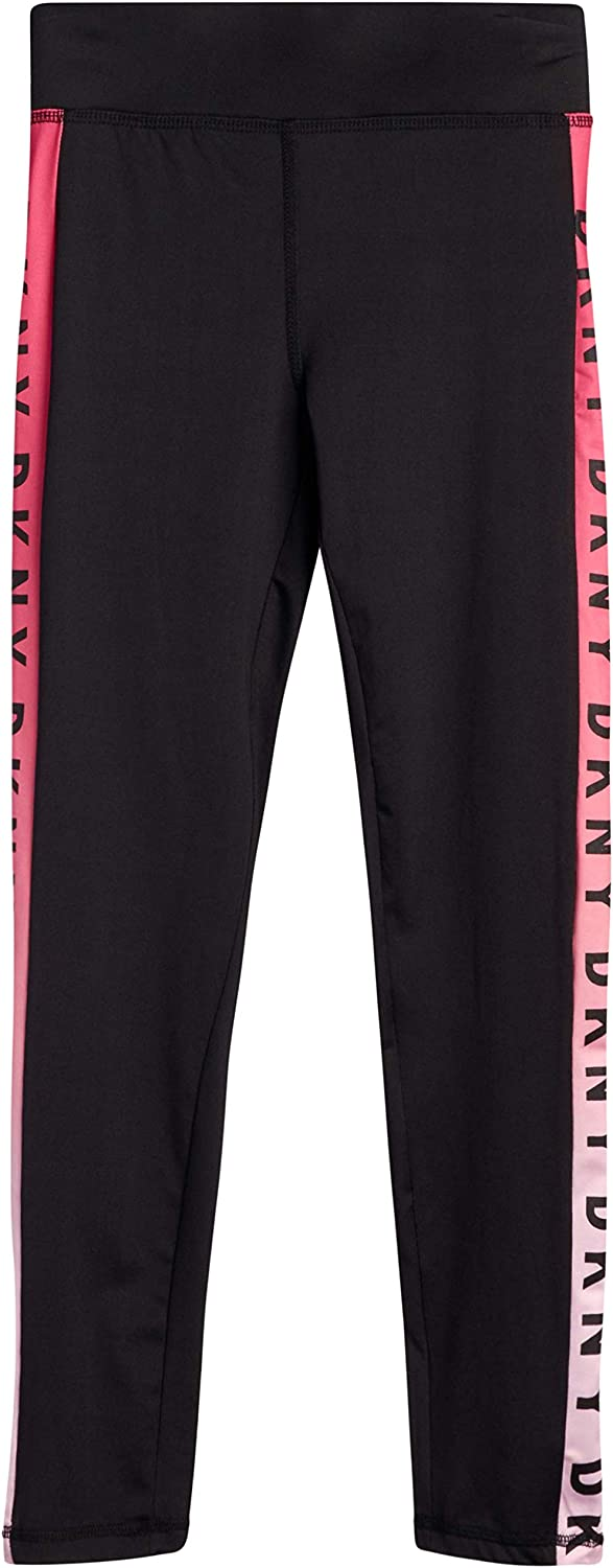 DKNY Girls Active Leggings - Spandex Athletic High Waisted Stretch Workout Yoga Pants (2 Pack): Clothing