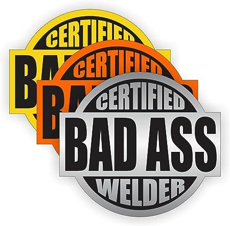 Bad Ass Welder Hard Hat Sticker Decal Label Motorcycle Helmet Welding Badge USA