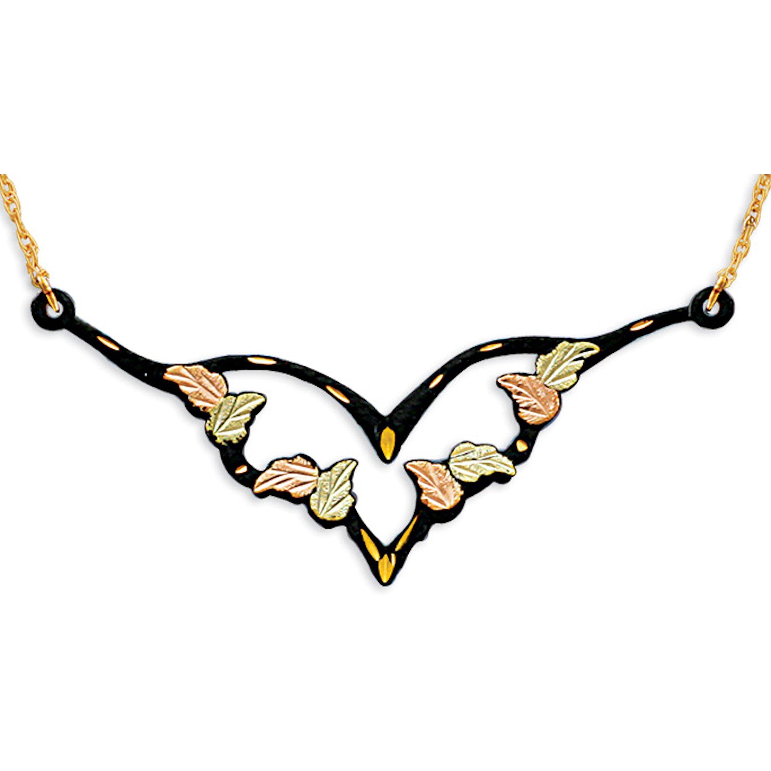 Black Hills Gold Black Powder Necklace