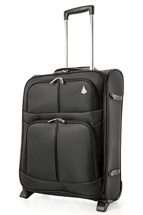 6743ab20acc70 Aerolite Expandable Cabin Luggage Suitcase 55x40x20 to 55x40x23cm 2 Wheel  Carry On Hand Luggage