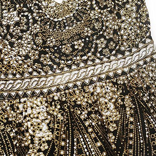FOLOBE la lentejuelas vestido vestido de fiesta Brown de noche mujer de rErwUfFnq