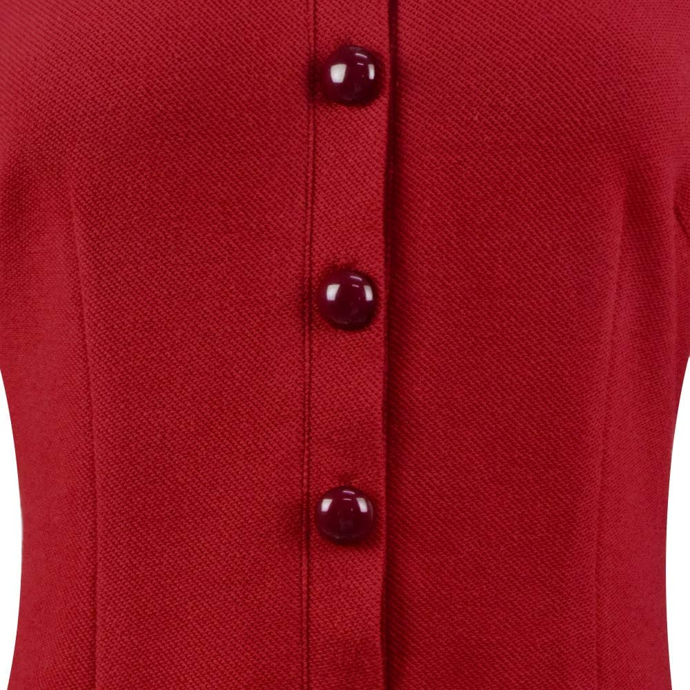 Women Sabrina Spellman Red Dress Coat Costume Teenage Switch Halloween Cosplay