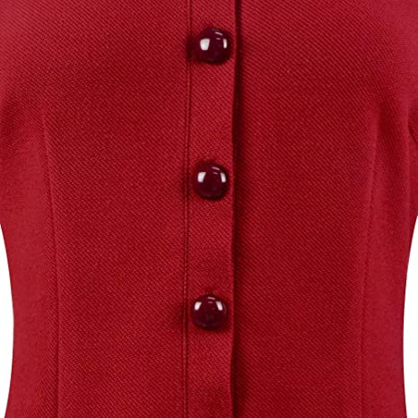 Sabrina Dress Red Black Peter Pan Collar Women/'s Clothing Long Sleeve Dress Lace Collar Dress Witch Dress Weird Sisters Dress