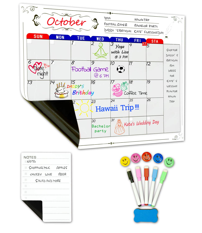 Magnetisch Belohnungstafel Kinder, Belohnungssystem kinder Magnetischer Sternchenplan inspiriert gutes Verhalten und Verantwortung mit 3 Abwischbaren Stift und Aufhängeöse MIGE