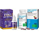 Vital 3 Joint Solution® Clinically Proven Liquid Knee Relief Supplement + Tart Cherry Extract 2500 mg Vegetarian Capsules