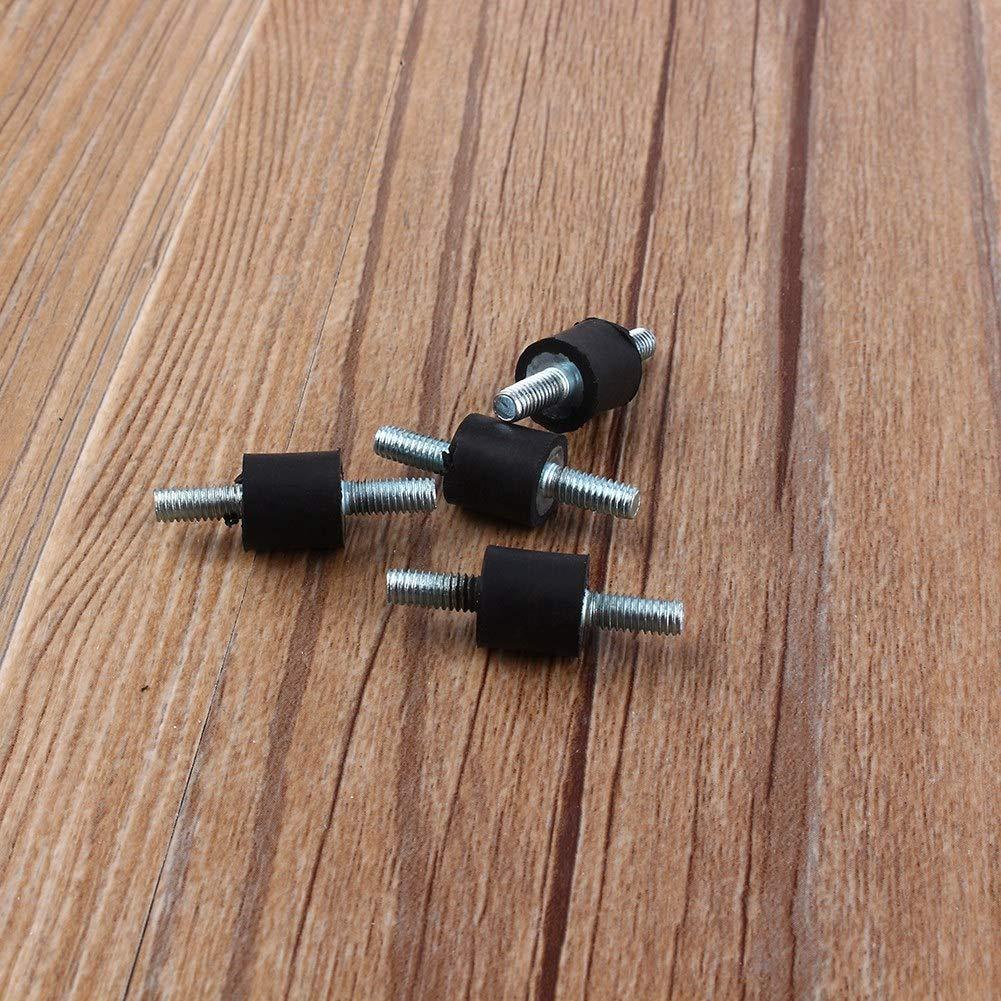 aislador doble tornillo soporte de vibraci/ón compresor de aire amortiguador 4 piezas M4 10 /× 10 de goma Monturas de goma antivibraci/ón bobina