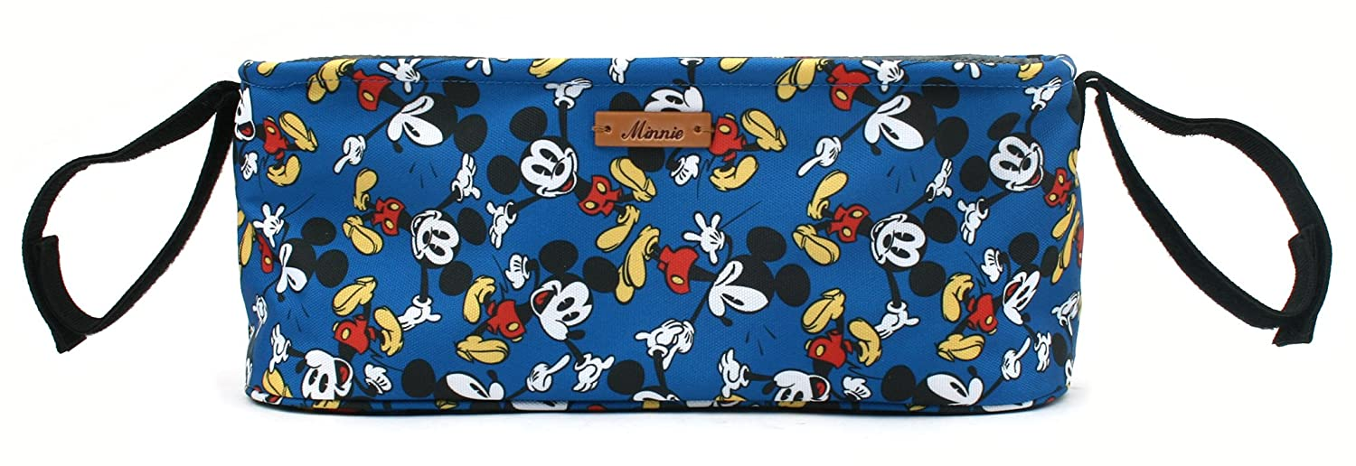 Disney Smile Mickey Minnie Mouse Organizer Diaper Storage Space for Cup Hoders, iPhones, Diapers, Toys (Ivory) winghouse