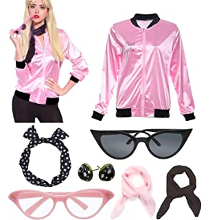 Retro 1950s Pink Polka Dot Style Headband Ladies Jacket Costume Accessories