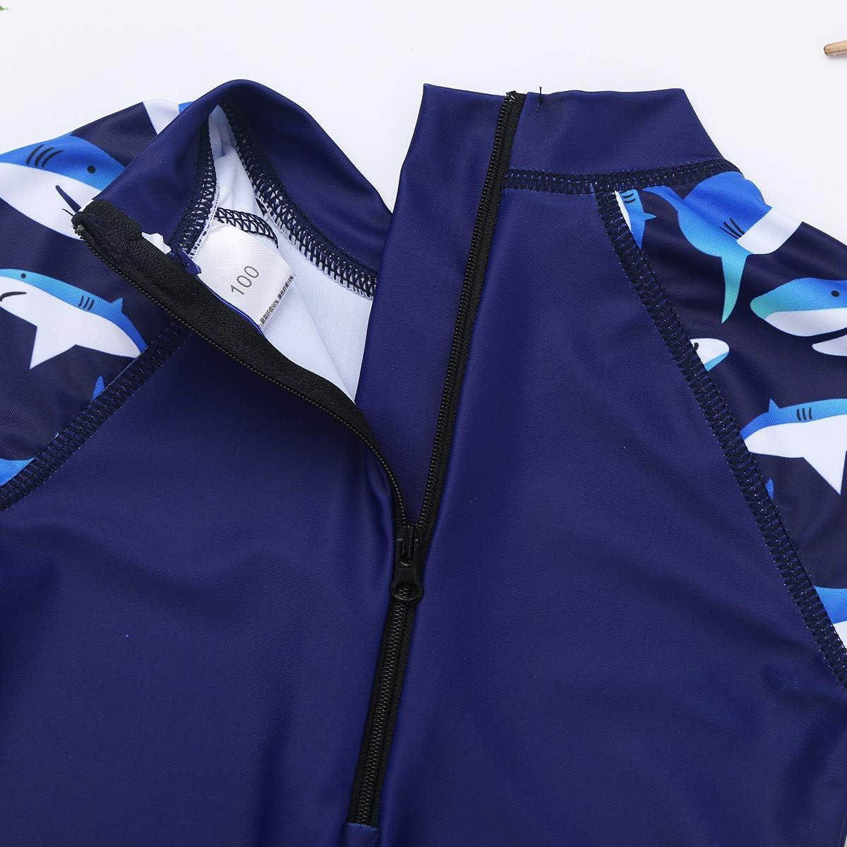 UV Protective Swimsuit Bathing Suit YiZYiF Baby Boys Toddler Stripes Short Sleeve UPF 50