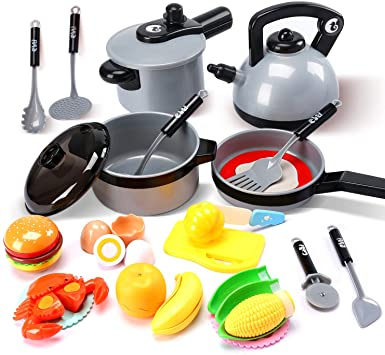 Kids Kitchen Accessories >> Cute Stone Kids Kitchen Pretend Play Toys Play Cooking Set Cookware Pots And Pans Playset Peeling And Cutting Play Food Toys Cooking Utensils