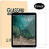Verre Trempé iPad Pro 12.9, Dexnor [Lot de 2] Protection Ecran Glass Screen Protecteur Haut Définition HD Transparent 9H Dureté Résistant Aux Rayures
