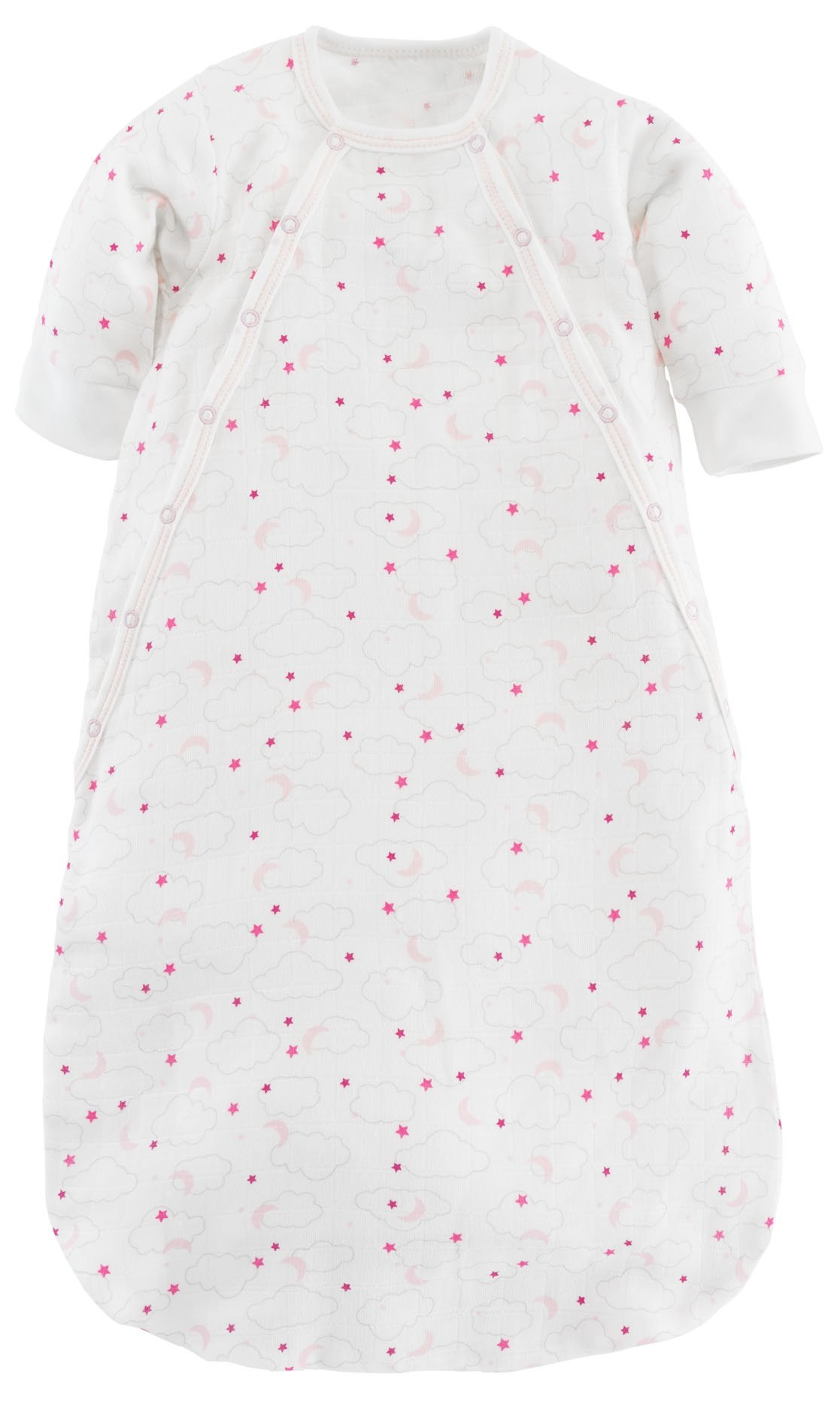Under the Nile Baby Girl Muslin Bunting Pink Starry Night Print Organic Cotton (0-3m)