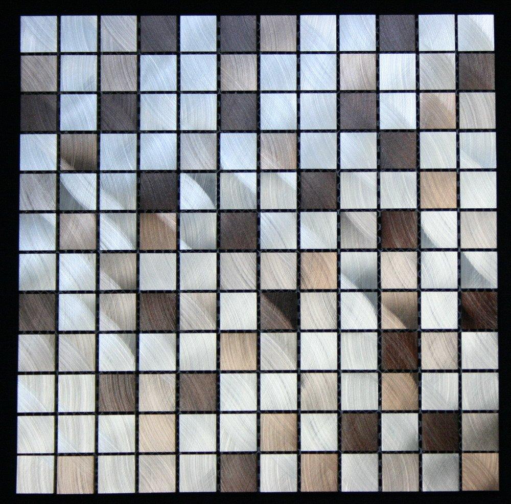 Legion Furniture MS-ALUMINUM13 Aluminum Tile, Silver/Brown
