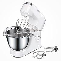Aigostar Piccolo Mamma White 30HMA – Robot de cocina: batidora, amasadora, mezcladora.