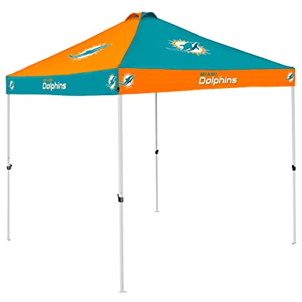 a01c8df0 NFL 9X9' Checkerboard Pop-Up Shelter Wheeled Carrying Bag Canopy Vents