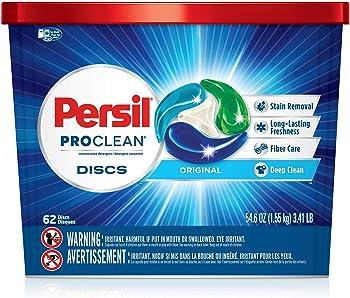 62-Count Persil Proclean Discs Laundry Detergent, Original