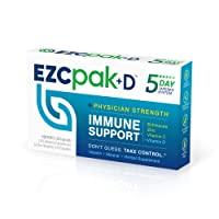 EZC Pak-D 5-Day Immune Booster for Cold and Flu Relief (2 Pack) - Echinacea, Zinc, Vitamin C + Vitamin D, Physician Formulated 5-Day Tapered Immune Support Pack