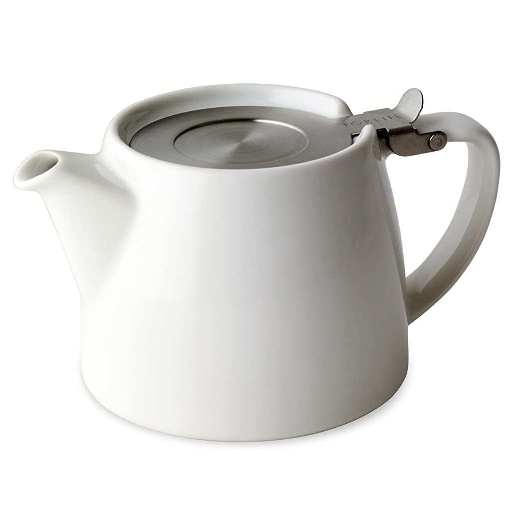 For Life White Stump teapot