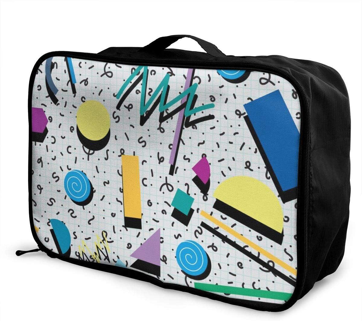 Yunshm Irregular Shape Yellow Blue Customized Trolley Handbag Waterproof Unisex Large Capacity For Business Travel Storage