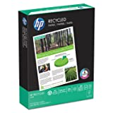 HP Printer Paper Recycled30 20lb, 30% post-consumer recycled fiber, 8.5x11, 10 Ream Case, 5000 Sheets, Made in USA, FSC Certified Resources, 92 Bright, Acid Free, Engineered HP Compatibility,112100C