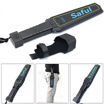 livingsky seguridad detector de metales de mano de seguridad varita escáner sensibilidad vibración Alerta asidero Audio + Vibration advertencia: Amazon.es: ...