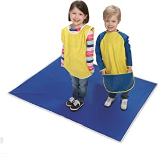 KinderMat, Blue Mess Mat, 42 X 54, Protect The Floor & Table Tops from Food Or Art Supply, Multi-Purpose