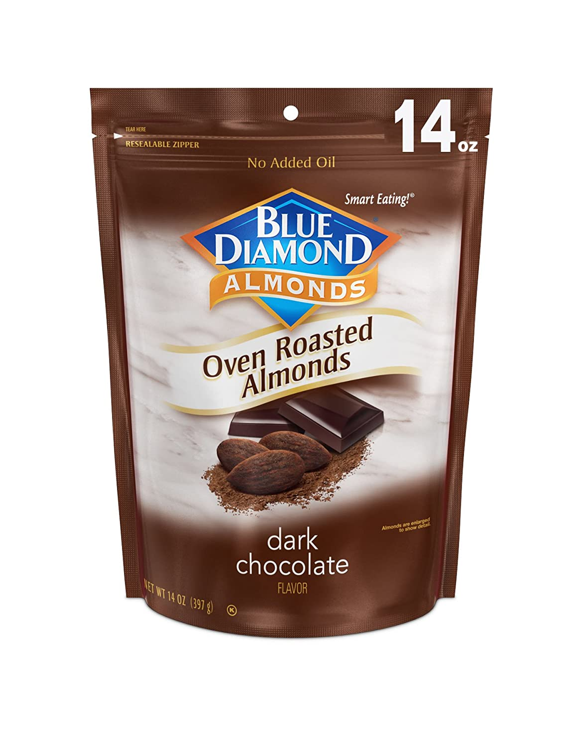 Blue Diamond Almonds, Oven Roasted Cocoa Dusted Almonds, 14 Ounce 71bDD3VliAL