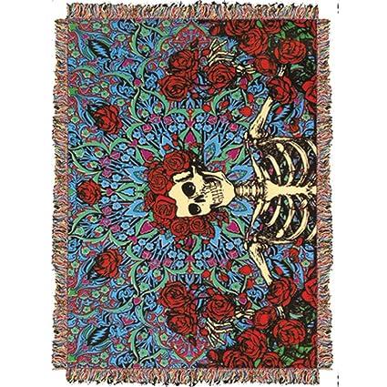 Amazon Grateful Dead Woven Throw Blankets Home Kitchen New Grateful Dead Throw Blanket