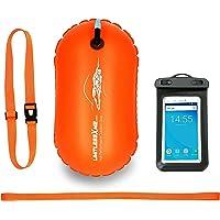 LimitlessXme Boya De Natación Naranja con Funda para Móvil. Visibilidad y Seguridad al Nadar en el mar y en el Lago…