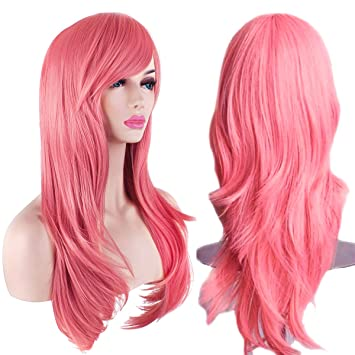 "39c42c7ee AKStore Fashion Wigs 28"" 70cm Long Wavy Curly Hair Heat Resistant Wig  Cosplay Wig For"