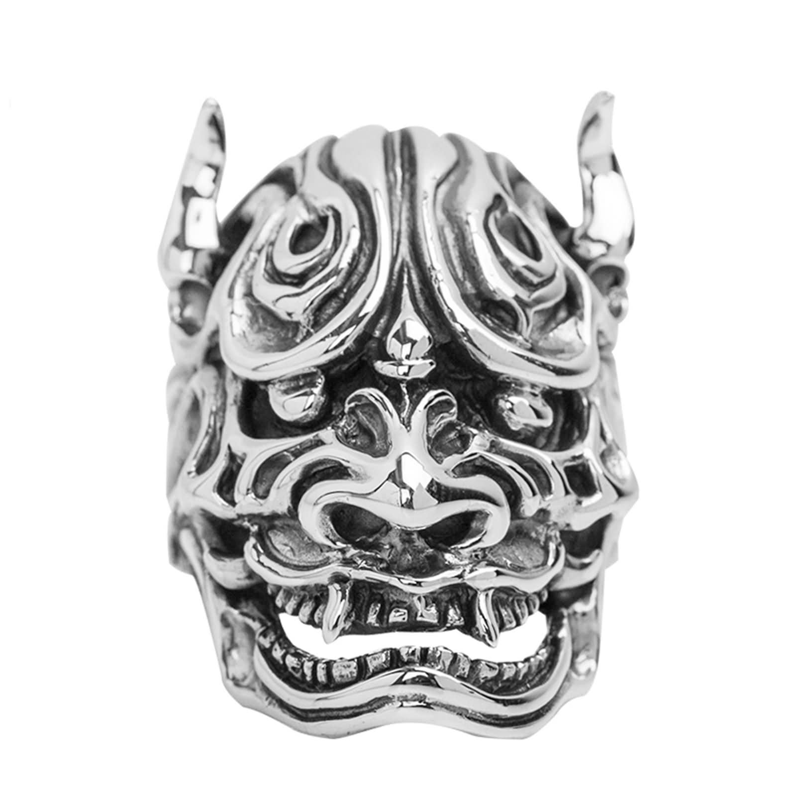 Bishilin Men's Ring Silver Plated Skull Friendship Rings Silver Size 11.5