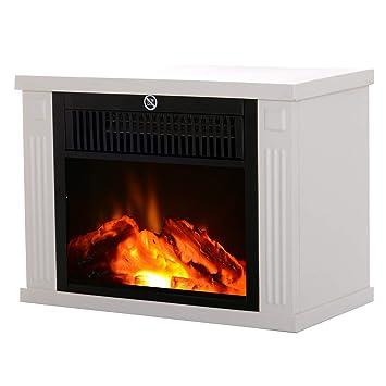 HOMCOM - Chimenea eléctrica Estufa Estilo Moderno termostato 600 - 1200 W: Amazon.es: Hogar
